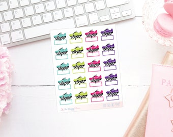 Fitness Steps Planner Stickers