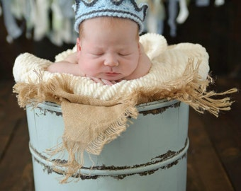 Newborn Crown Boy - Prince Crown - Newborn Crown Prop - Baby Boy Crown - Crochet Newborn Crown - Crochet King Crown - Newborn Prince Crown