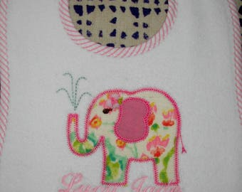 Pretty Applique Elephant Bib