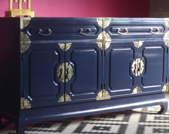 Hollywood Regency Buffet or Credenza - Available for Custom Lacquer