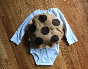 Infant chocolate chip cookie costume