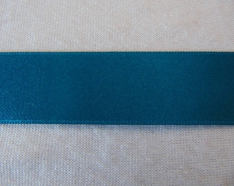 Satin ribbon, turquoise, width 25 mm (S-269)