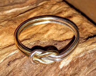 Gold and Silver love knot ring