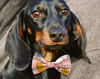 CHRISTMAS Dog Costume, Bow Tie, Friends in Pink by FredandJuno, 100% Cotton