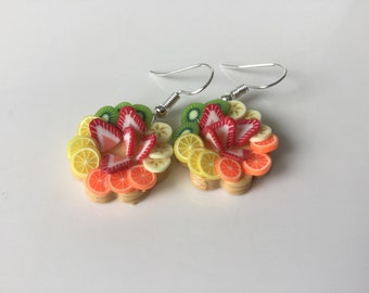 Fancy fimo women gift earrings mother of mothers handmade miniature gift idea for woman
