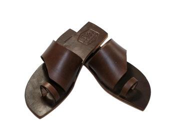 Brown Rebel Leather Sandals for Women & Men - Handmade by WalkaholicS