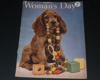 Vintage Womans Day Magazine February 1941-Art-Collectible-Neat Vintage Ads- Scrapbooking