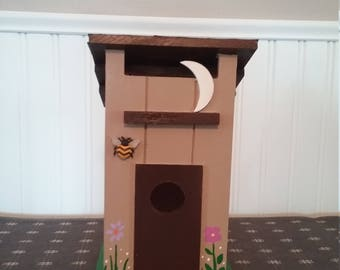 Half Moon (outhouse) Birdhouse