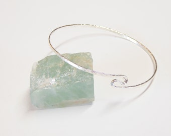 Sterling silver wave bangle bracelet,2mm hammered 925 sterling silver,silver bangle bracelets,hammered silver bracelet,silver bangles
