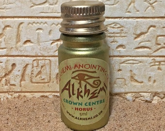 CROWN CENTRE OIL: Alkhemi® Anointing Oil individually prepared and empowered with Ancient Egyptian sacred symbols/archetypes.