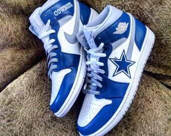 Cowboys Custom Jordan 1 Mid
