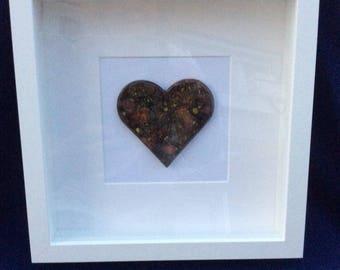 Heart Box Frame in Masquerade