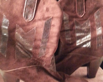 Gorgeous Ottorino Bossi Brown Suede Leather Boots