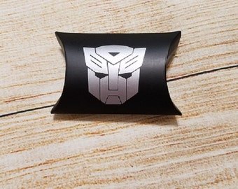 Transformer Autobot Pillow Box Party Favors - Birthday Party Favor - Thank You - Party Treat - Gift Box - Favor Box - Autobot Surprise Box