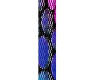 BPT0049 Thin Bracelet Pattern 49 Even Count Single Drop Peyote Bracelet PATTERN