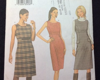 Butterick Very Easy Misses/Misses' Petite Dress Or Jumper Pattern 3590 Size 12, 14, 16