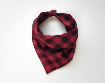Buffalo Plaid Bandana - Red