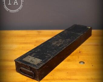 Vintage Industrial Black Safety Deposit Box Storage Cabinet