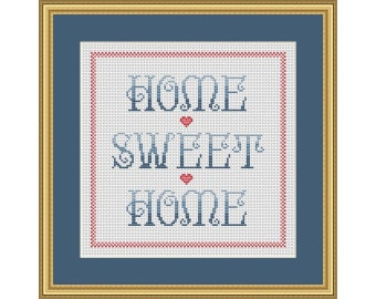 Home Sweet Home - PDF Cross Stitch Chart