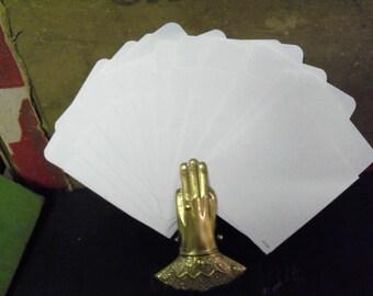 24 Library Pockets, wedding Invitations, Journal, Journal Supplies, mixed media supplies