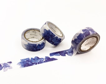 Blue Floral Washi Tape - Season's Color Series