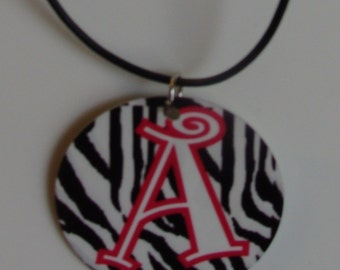Monogrammed/Personalized Zebra Necklace
