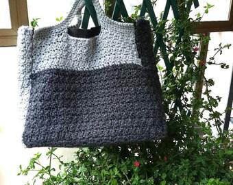 PATTERN: Gray tote bag, wool handbag, tote bag, gray wool tote bag