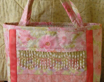 Patchwork bead Bag DIY KIT This is a precut Kit ready for you to sew