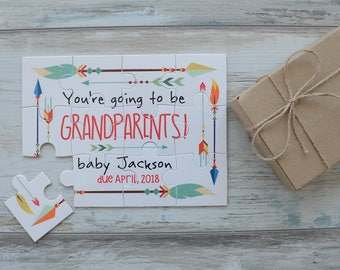 Pregnancy Reveal to Grandparents, Personalized Pregnancy Reveal Puzzle, Pregnancy Announcement Grandparents, Pregnancy Announcement Puzzle