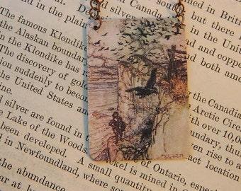 Crow jewelry necklace or pendant Arthur Rackham
