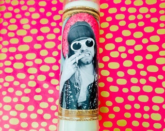 Kurt Cobain - Nirvana - Prayer Candle - Grunge Music - Courtney Love - Gift For Music Lovers - Religious Candle