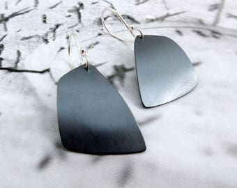 Arise // Sterling Silver Earrings with Abstract Shape