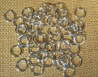 12mm 14ga Silver Plated Jump Rings - Choose Your Quantity