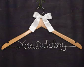 Unique Engagement Gift, Personalized Wedding Hanger, Bridal Hanger, Gifts and Mementos, Name Hanger, Bridesmaid Gift for Bridal Party
