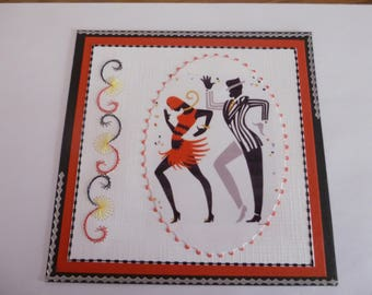 """201824 embroidered themed card dance """"swing"""""""