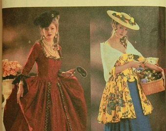 18th Century French Costumes Making History Butterick Pattern 3640  Uncut   Sizes 6-8-10, 12-14-16, 18-20-22