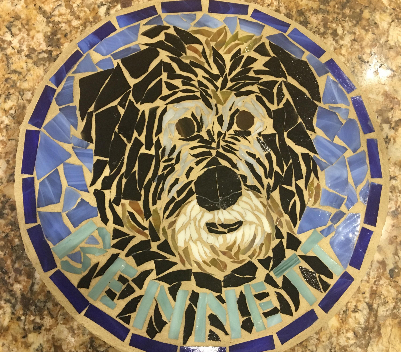 Custom Order Pet Portrait Mosaic Stepping Stone