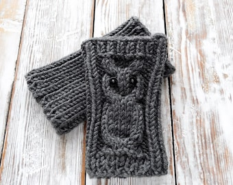 Knitted OwL Boot Cuffs