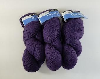Three Skeins of Berroco Ultra Alpaca 2012 Yarn, Purple 62105, 215 yds, 3.5 oz Each