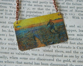 Van Gogh necklace The Sower art jewelry  Wearable art
