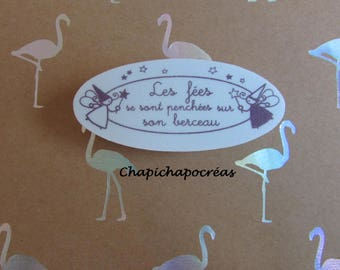 "Stamp ""fairies looked at his crib"" baby birth announcement Scrapbooking card making crafting"