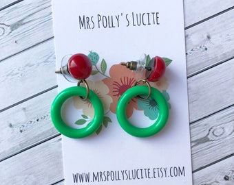 Hula Big Hoop Earrings  - Tortoise glitter - Vintage inspired