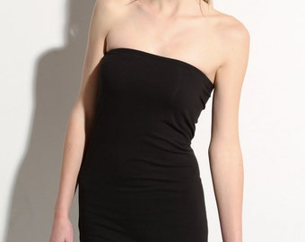 Tube Top Strapless Womens Premium Stretchy Black Layering Bandeau Cotton
