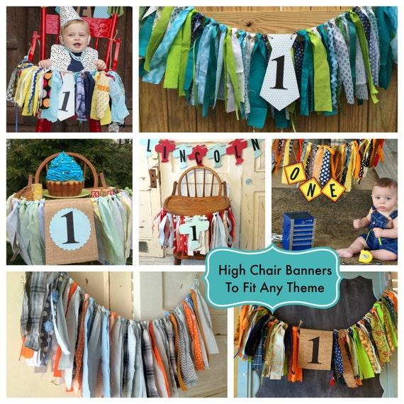 boys high chair banner custom made boys first birthday high