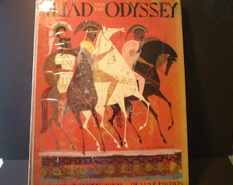 Vintage Book - The Iliad and the Odyssey - 1956 First Edition Giant Glden Book De Luxe Edition- extremely collectible