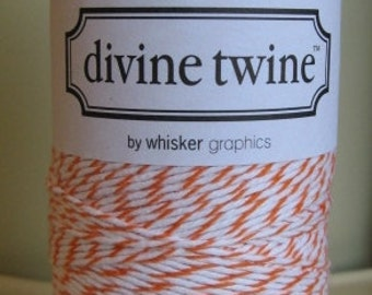Divine Twine Orange Bakers Twine 1 Full Spool  240 Yards Made in USA
