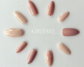 ROSE QUARTZ luxe press on nails