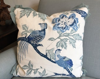 "18"" Arbre Chinois in Porcelain-Schumacher Pillow Shams-"