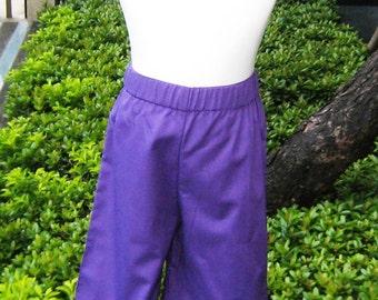 Purple  Ruffle Pant, Girl Purple Pant, Ruffle Pant, Girl Pant, Toddler Pant, Fall Girl Pant, Winter Girl Pant