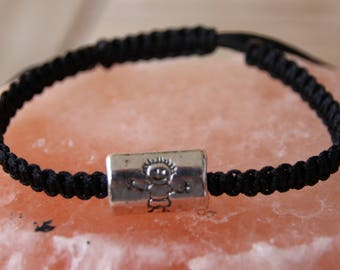 shamballa bracelet for men with silver metal bead